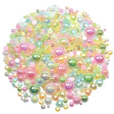 'Pretty Pastels' Theme Rhinestone and Pearl Embellishment Pack